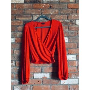 Red topshop blouse